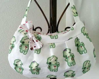 Zombie Purse with Blood Splatter