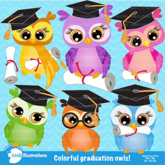 80%OFF Owl clipart Graduation owls clipart owl by ...