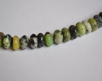 Chinese Chrysoprase Rondelle Beads, Destash