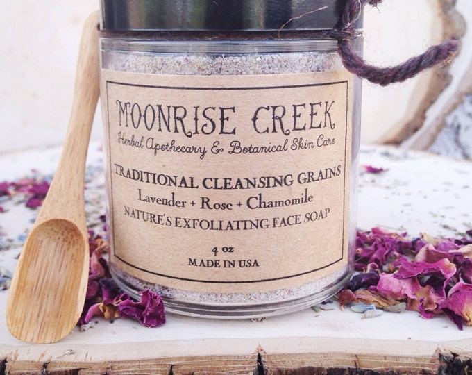 Traditional Cleansing Grains • Nature's Face Soap • Exfoliant • Natural Micro Beads