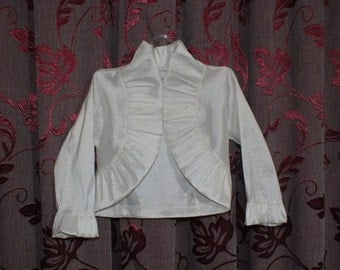 First Communion Bolero,  Girls Shrug,Flower Girls Bolero,First Communion Shrug,