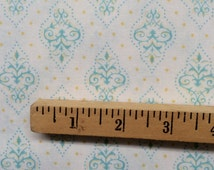 Annette Tatum Soliel Gem AT42 Yellow blue floral geometric diamond sewing quilting free spirit cotton fabric 100% cotton fabric by the yard
