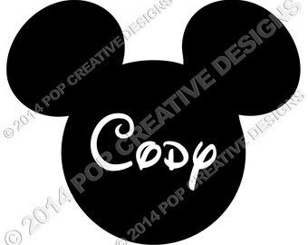 Disney Mickey Mouse Personalized with Name Iron On Transfer