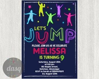 trampolin einladung | etsy