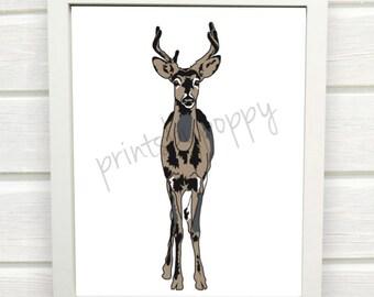 Tan Deer - Forest Series - Digital Download