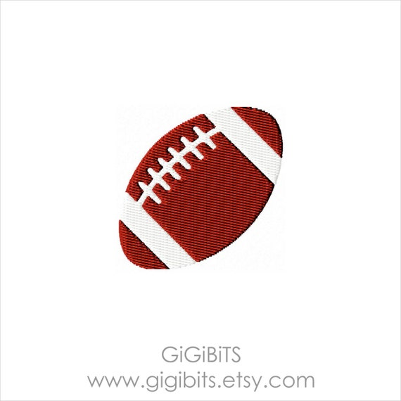 Mini Embroidery Filled Football. Rugby Ball. INSTANT DOWNLOAD