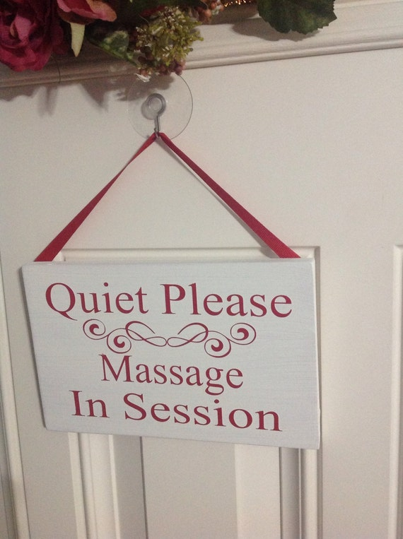 Items Similar To Hand Painted Quiet Please Massage In
