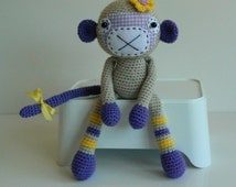 Stuffed Animal - Stuffed Monkey - Crochet Monkey - Amigurumi Monkey - Amigurumi Animal - Handmade Monkey - Plush - Monkey Girl