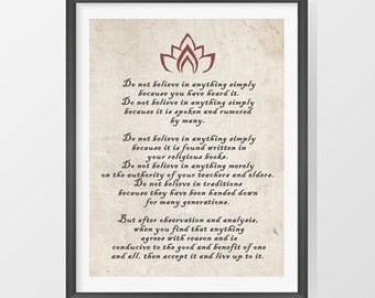 Buddha quote print - INSTANT DOWNLOAD - Buddha inspirational zen quotes printable poster