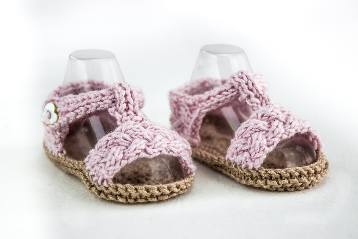 KNITTING PATTERN Baby Braided Sandal Pattern Cable Strap