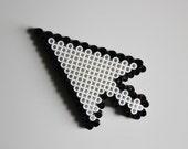 Pixel Computer Icon Perler Bead Magnet