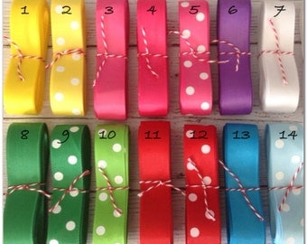 "5yards 7/8"" grosgrain ribbon, many colors!"