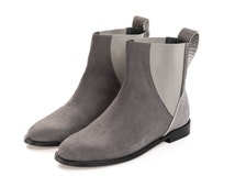 Clearance  Boots on sale -  Handmade Ankle Boots for Womens  - Nubuck Leather Ankle Boots - Flat Ankle Boots - Grey Boots -  Free shipping