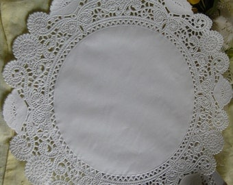 "10"" inch Off White Ivory ELEGANT LACE  Paper  Doily 25 Pcs Round  DIYS Wedding  Invitations Crafts  Wraps"