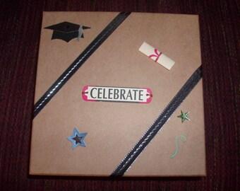 Sturdy Tan Treasure/ Memory Box for the Graduate