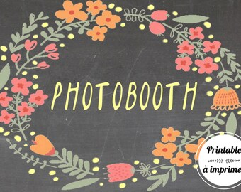 Printable floral photobooth poster