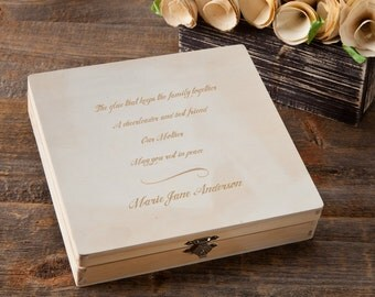 Personalized Memorial Keepsake Box - Engraved Memorial Box - Memories of our Mother Memorial Box - GC1216
