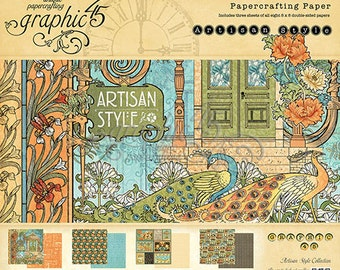 Graphic 45 Artisan Collection 8 x 8 Paper Pad