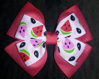 Watermelon Basic Bow