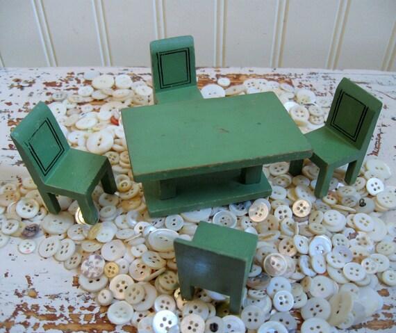 Antique dollhouse meubles jaymar happy house poup e par for Meuble jaymar