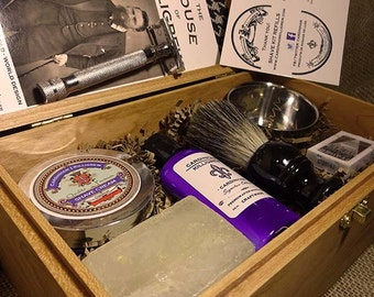 Shaving Kit - Oak Deluxe Shave Kit for Men
