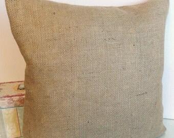 Brown Burlap decorative envelope style pillow cover