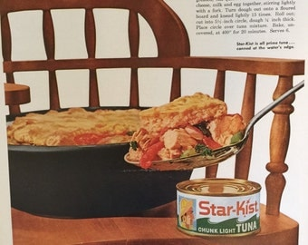 Vintage Star-Kist Tuna Advertisement from a 1960 Life Magazine. Check out our Free Shipping Coupon Code Special.