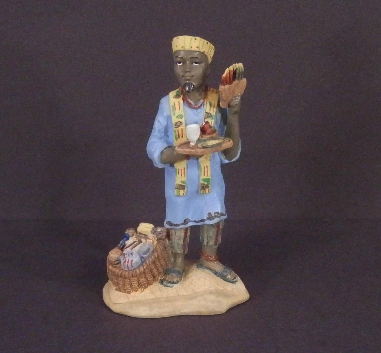 Jan Hagara Figurines: Kwanza African Figurine Vintage 1994