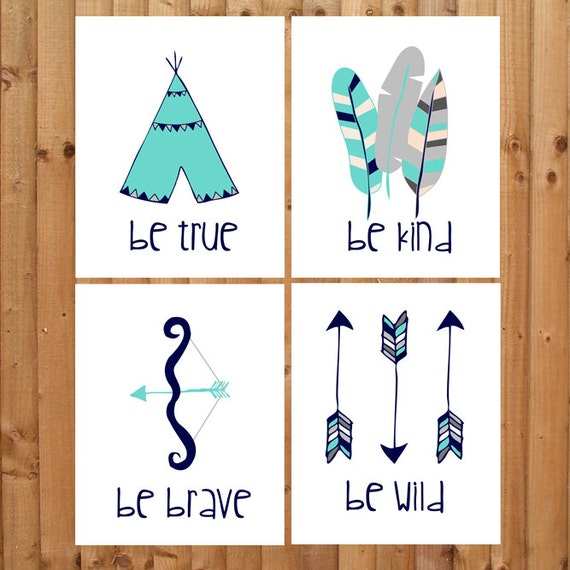 Tribal Nursery Wall Decor : Items similar to nursery prints quot tribal theme now in