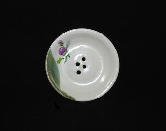 Soap Dish with Thistle and Edge
