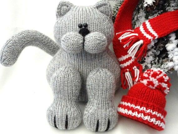 Knitting PATTERN Animal Knit Pattern Cat Animal Patterns Children Toy Knittin...