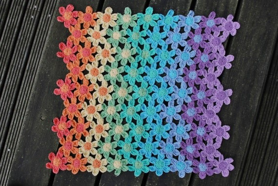 Crochet Rainbow Crochet Blanket Rainbow Afghan Crochet