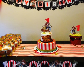Mickey Mouse banner , Pirate Mickey banner, Pirate Mickey Birthday Banner