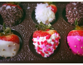 12 Assorted Chocolate Covered Strawberries