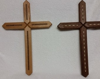 Hand crafted wooden crosses