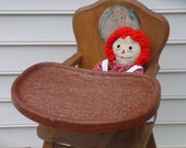 Vintage Wooden Highchair Shabby Chic