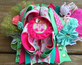 Spring Tea Party Over The Top Boutique Hairbow