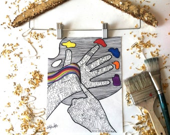 Deaf Art Print - Deaf Artist