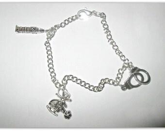 Bracelet 50 shades of Grey: Big Ben + handcuffs + Charlie Tango.