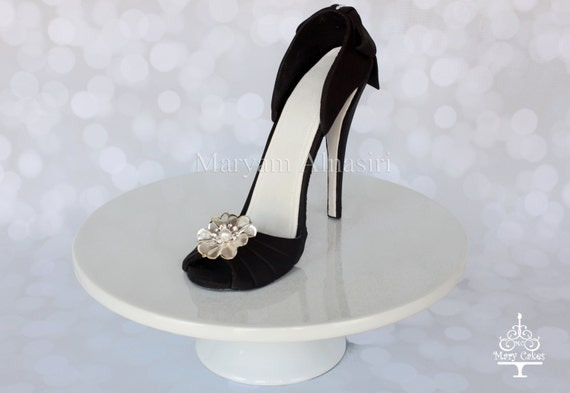 black high heel shoe cake topper by marycakesshop on etsy