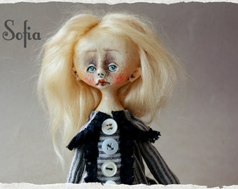 OOAK art doll Sofia