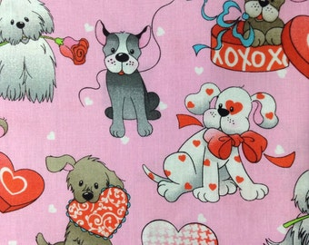 One Fat Quarter of Fabric - Puppy Love