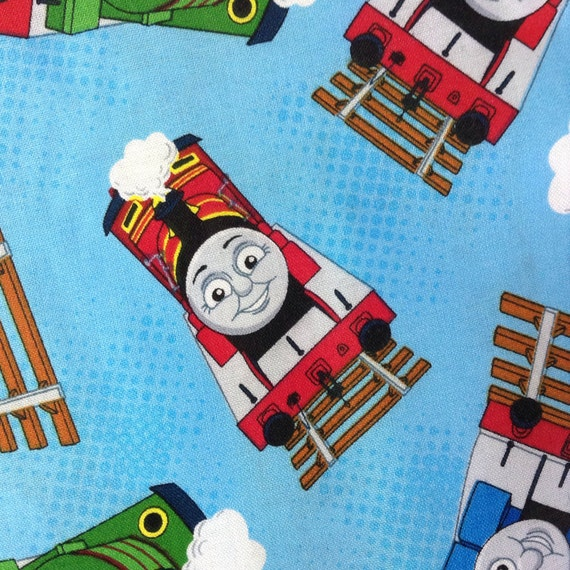 One Half Yard Of Fabric Material Thomas The Train Toss