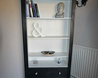 Request CUSTOM item: SOLD Bookcase painted in chalk paint Price below is DEPOSIT only