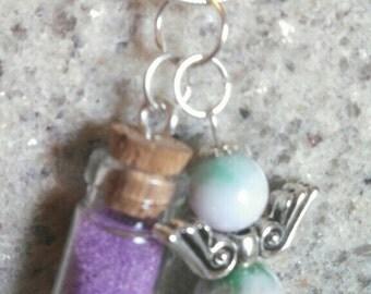 Message/wish bottle plus charm necklace.