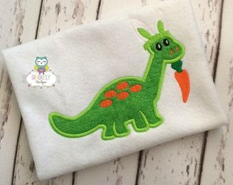 Dinosaur with bunny ears  Easter Shirt or Bodysuit, Easter Dinosaur Shirt, Easter Dino Shirt, Easter Shirt for Boys, Boy Easter Shirt
