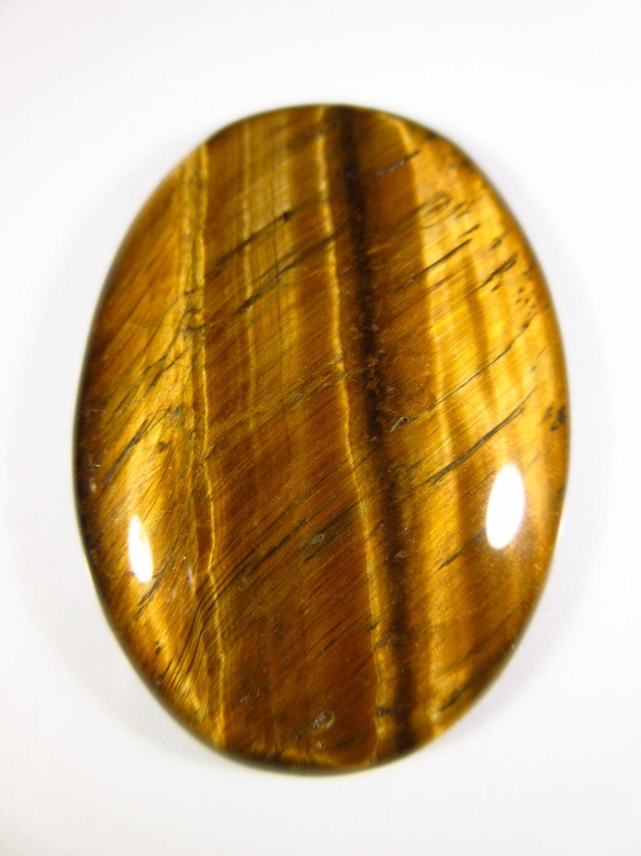 tiger eye big cabochon gemstone 46mmx32mm gem