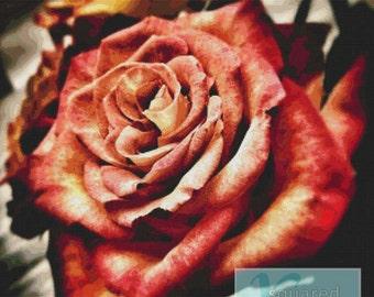 Stunning Rose PDF Cross Stitch Pattern