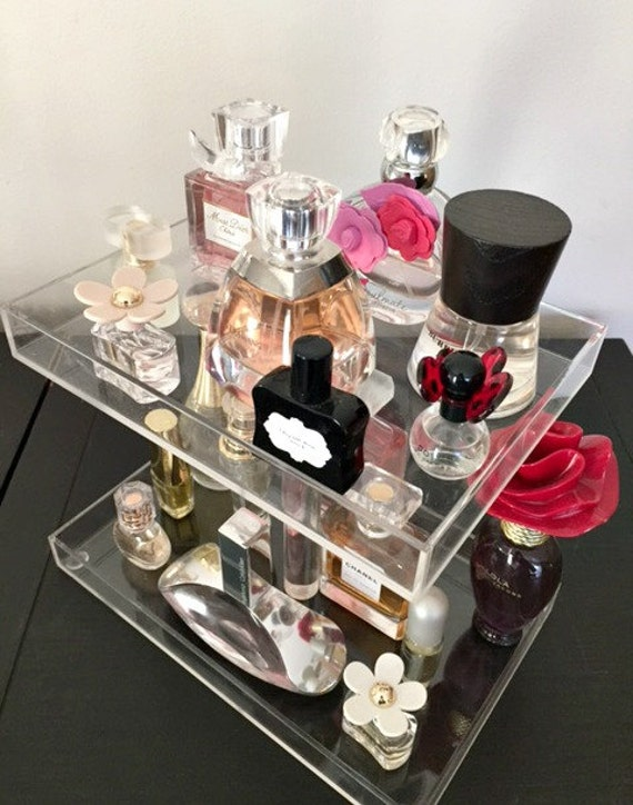 Perfume Storage Holder 2 Tiers Clear Acrylic By