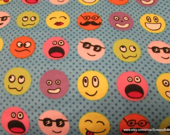 Flannel Fabric - Group Faces - 1 yard - 100% Cotton Flannel